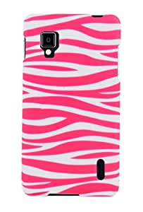 Graphic Rubberized Shield Hard Case for LG Optimus G LS970 - Pink/White Zebra (Package include a HandHelditems Sketch Stylus Pen)