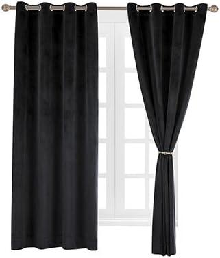 "Cherry Red 72/""H Velvet Curtain Panel w//Metal Grommet Top Eyelets Window Drapes"