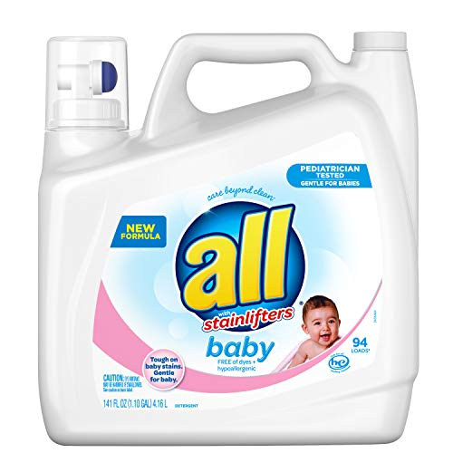 All Baby Liquid Laundry Detergent, Gentle for Baby, 141 Oz, 94 Loads
