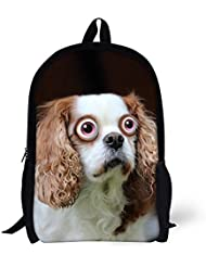 CHAQLIN Cute Animal Pet Dog Backpack Teen School Book Bag