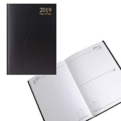 Agenda de escritorio 2019 A5 día a página, tapa dura, diario ...