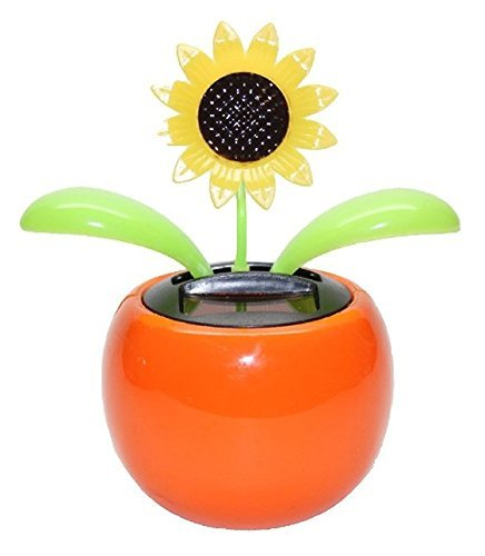 Navillus Solar Powered Dancing Flower Sunflower Office Desk & Car Decor