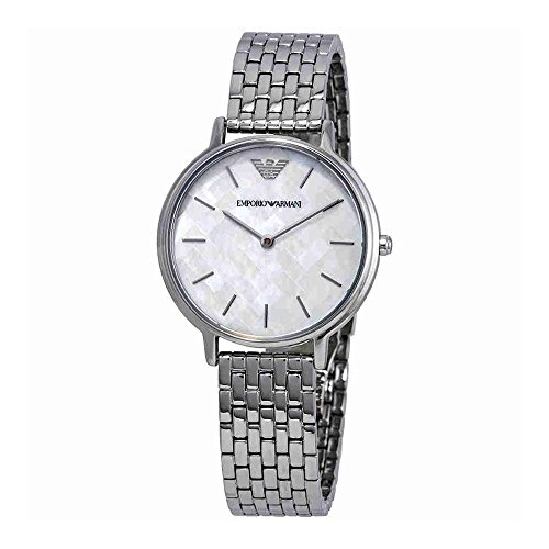 (Emporio Armani Women's 'Dress' Quartz Stainless Steel Casual Watch, Color:Silver-Toned (Model: AR11112))