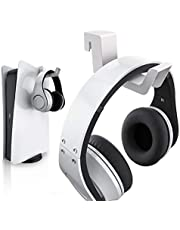 PS5 Headphone Holder, PS5 Headset Hanger, Compatible with Universal Gaming Headsets - White (1 Pack)