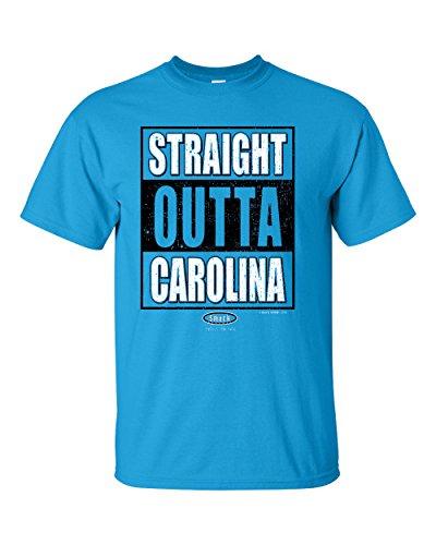 Carolina Football Fans. Straight Outta Carolina Sapphire T Shirt (Sm-5X) (Small)