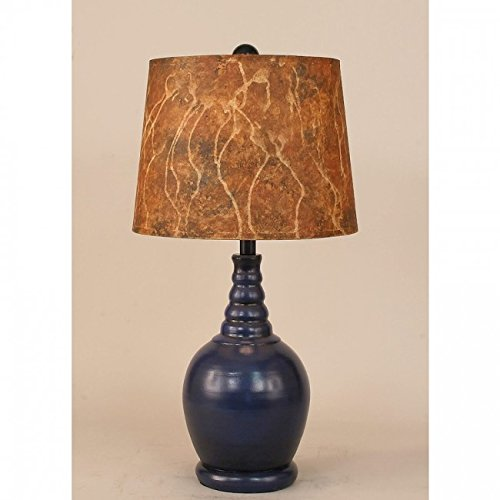 Coast Lamp Manufacturer 14-C28C Marbled Shade Bulbous Accent Lamp - 23.5 (Bulbous Lamp)