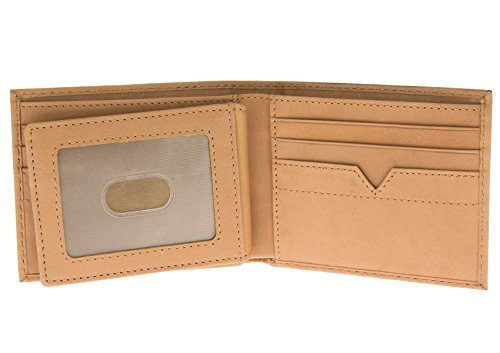 Nappa Natazzi ID Bifold Men's Leather Wallet Flap Blocking Luciano Tan RFID Extra AYdOxq11