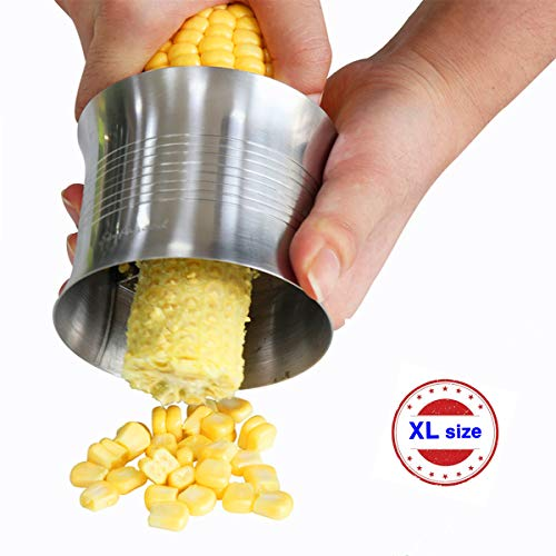 EINFAGOOD Corn Strippers Large Size Corn Tool, Corn Kernel Cutter, Stainless Steel (1 Pack)