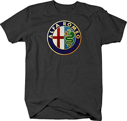 Alfa Romeo Emblem Logo Tshirt - 3XL Graphite (Vw Logo Tshirt)