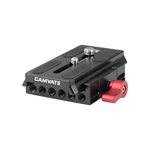 CAMVATE Quick Release Mount Base QR Plate for Manfrotto 501/504/ 577/701 Tripod Standard Accessory (Monfrotto Tripod Plate)