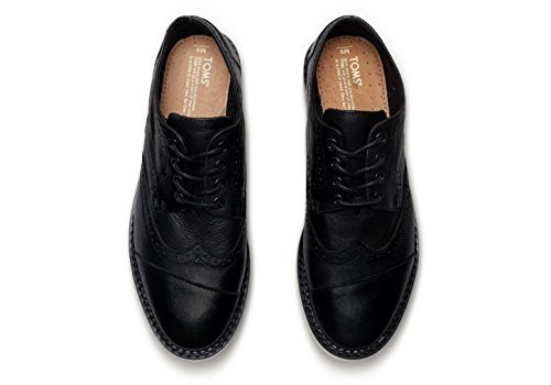 TOMS Mens Brogue Black Full Grain Leather Oxford 10.5 D (M) by TOMS (Image #2)