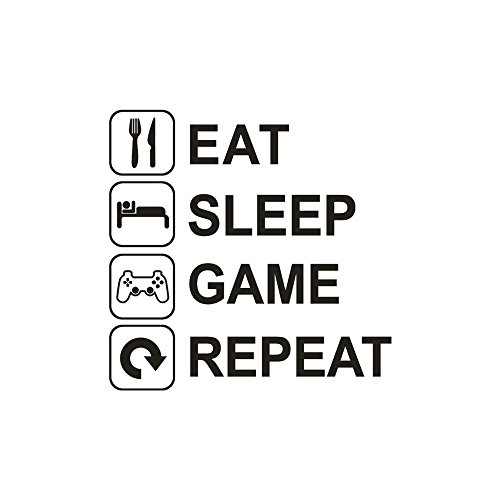 Euone Wall Sticker, Eat Sleep Game Repeat Art Vinyl Mural Home Wall Stickers (C) by Euone (Image #1)
