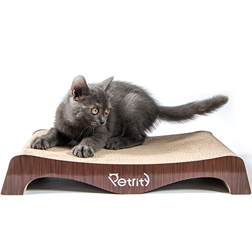 Petrity Cat Scrather Lounge&Toy—Cat Scrathing& Flipping Pad Made of Durable Cardboard (Arch Bridge) by Petrity