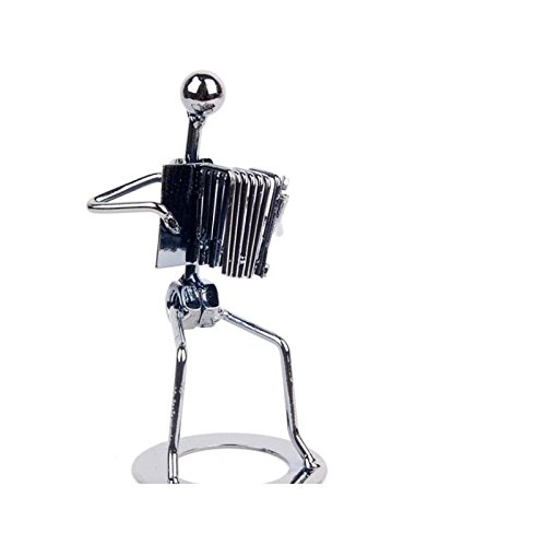 PrutX Brand New Handmade Metal Accordion Musician Sculpture Collectibles...