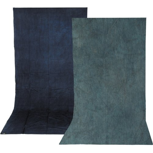 Impact Reversible Muslin Background (10 x 12', Sky Blue/Aqua) by Impact