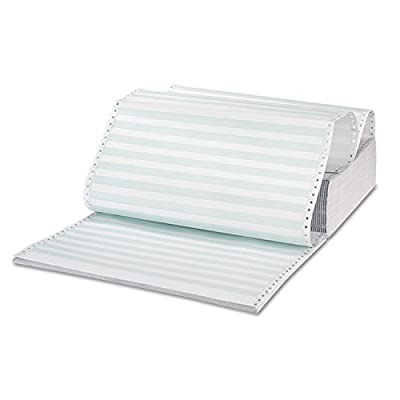 Universal 15754 Green Bar Computer Paper, Perforated 3-Part Carbonless, 14-7/8 x 11, 1100 Sheets