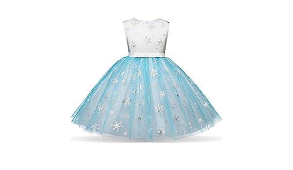 JYC Vestido para Niñas, Vestido para Bebés, Niños Niño Niña Navidad Copo de Nieve Impresión Princesa Bling Tutu Vestir Ropa: Amazon.es: Ropa y accesorios