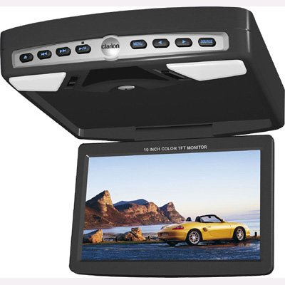 """CLARION OHMD102 10.2"""" Flip-Down LCD Monitor With Built-In DVD Player"""