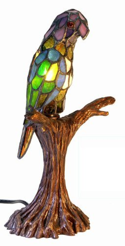 Tiffany-style Parrot Accent Lamp by Warehouse of Tiffany's by Warehouse of Tiffany's (Image #1)