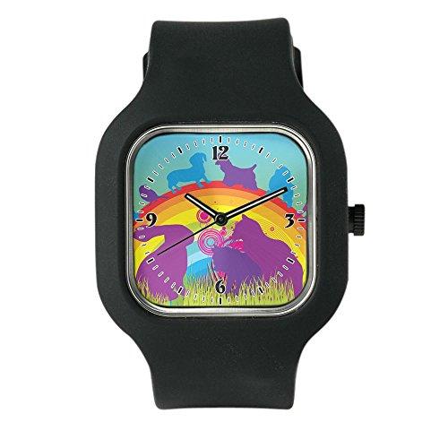 black-fashion-sport-watch-animal-dog-cat-bird-lover-rainbow