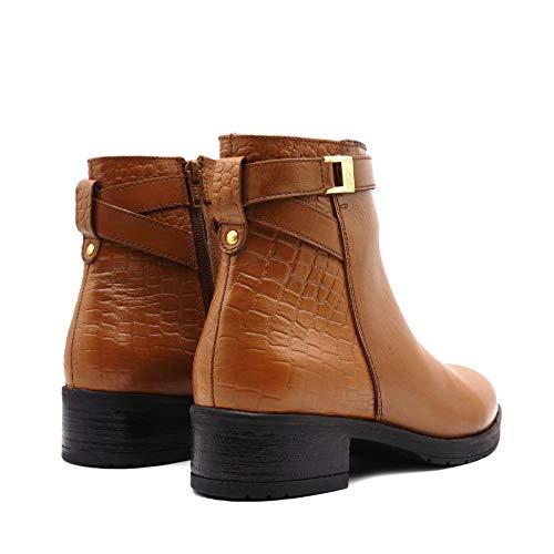 Chelsea Piel Mujer Footwear De 1092 01 Canela Botines pj1006 Kick 7Xq4Hn