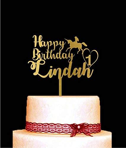 Decoración para tarta de cumpleaños con cualquier número ...