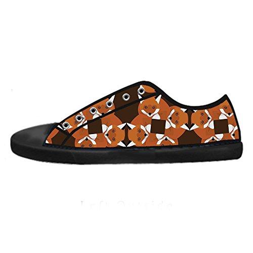 Dalliy Custom Fox Hommes Toile Chaussures Les Lacets Dans Les Chaussures De Toilettage De Haut Au-dessus Des Chaussures.