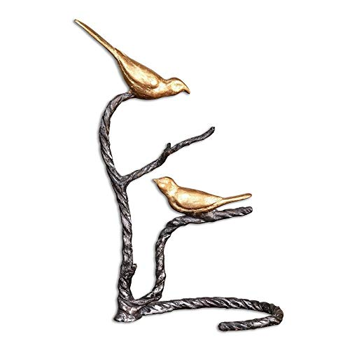 Uttermost 19936 Birds on a Limb Sculpture, Gold