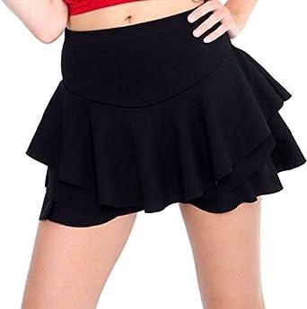 Falda de mujer de cintura falda, falda de volantes, con volantes ...