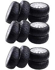 Hellery Neumáticos De Goma De Llanta Hexagonal De 12pcs 17 Mm para 1/8 De Carrera De RC Car