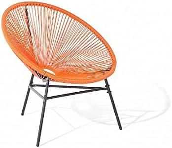 Designer Acapulco Chair Naranja Retro Sillón para interior y ...