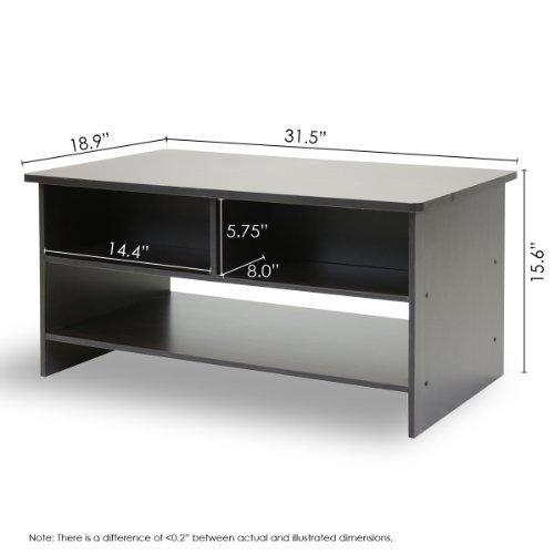 Furinno 10003EX/BR Espresso Finish Living Set, Center