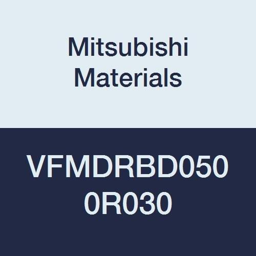 15 mm LOC 6 Medium Flutes for Difficult to Cut Material 0.3 mm Corner Radius Mitsubishi Materials VFMDRBD0500R030 VFMDRB Carbide Impact Miracle Corner Radius End Mill 5 mm Cut Dia
