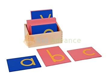 montessori lower case sandpaper letters w box