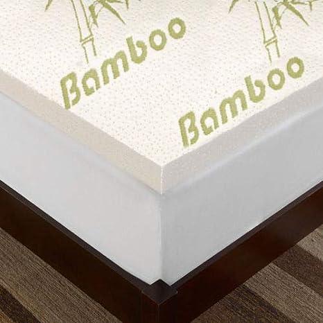 "2.5cm 4cm Quality BAMBOO MEMORY FOAM MATTRESS TOPPER 1/"" inch"