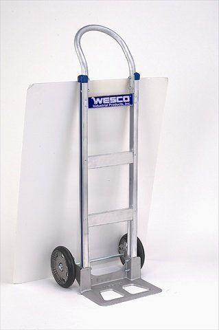 Wesco-220375-Series-410-Cobra-Lite-Aluminum-14-Wide-Nose-Plate-Hand-Truck-with-Continuous-Handle-Pneumatic-Wheel-600-lb-Load-Capacity-18-Width-x-49-Height-x-20-Depth
