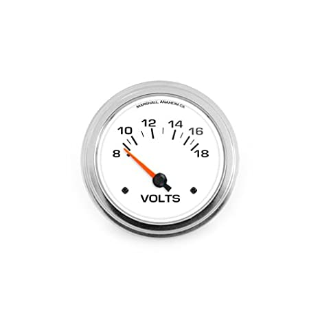 Water Sports Boating Silver Series Voltmeter 12 V White