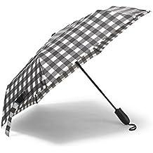 Eddie Bauer Unisex-Adult Auto Open/Close Umbrella, Lt Gray Regular ONESZE Regula