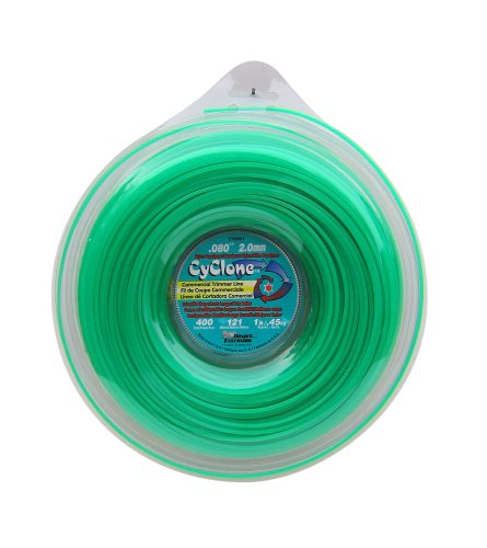 Cyclone .080-Inch-by-400-Foot Spool Commercial Grade 6-Blade 1-Pound Grass Trimmer Line, (Trimmer Line Green)