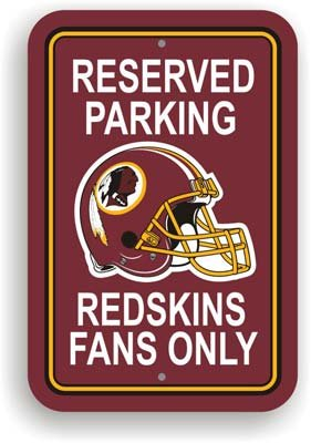 Washington Redskins NFL Reserved Parking (Washington Redskins Parking Sign)
