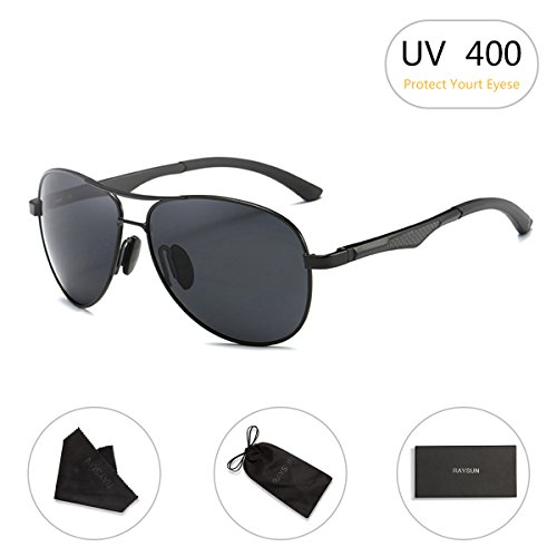Aviator Sunglasses RAYSUN Aluminum Polarized Vintage Sun Glasses for Men Women UV - Aviator Glasses Best
