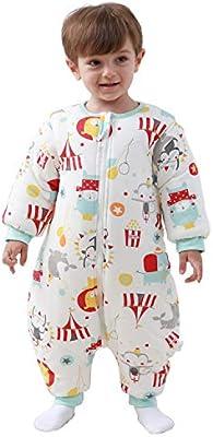Saco de dormir para bebé con piernas forradas para invierno, de manga larga, con pies, 3,5 tog. rojo rojo Talla:M/Körpergröße 70cm-80cm: Amazon.es: Bebé
