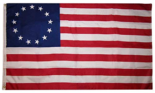 Trade Winds 3x5 Betsy Ross Historical 150D Woven Polyester Nylon Flag 3'x5' Banner Grommets Heavy (UV Fade Proof Heavy Duty Wind Resistant Fabric) ()