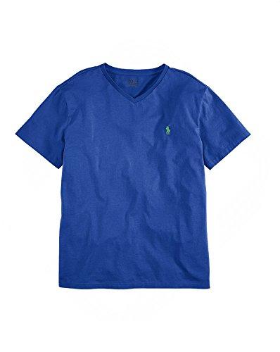 UPC 889043100386, Ralph Lauren Polo Cotton Jersey V-neck T-shirt (Medium, Pacific Royal)