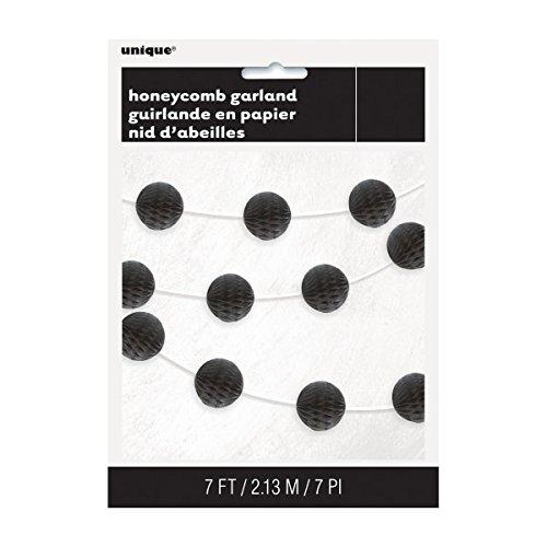 7ft Black Honeycomb Ball Garland]()