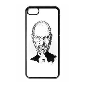 iPhone 5c Cell Phone Case Black Steve Jobs Portraits Illustration Xxgrd