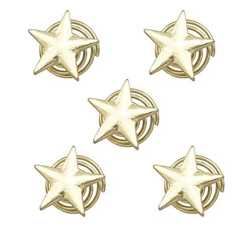 - RechicGu Pack of 5 Star Spiral Rasta Mambo Beads Dreads Gold Tone Hair Pin Dress Clip Dreadlocks