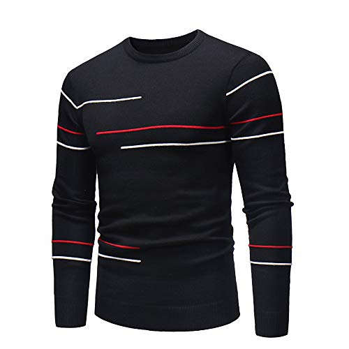 Realdo Mens Bottoming-Shirt Autumn Winter Sweater Pullover Slim Jumper Knitwear Outwear Blouse(XX-Large,Black) from Realdo
