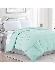 Queen Comforter Goose Down Alternative Microfiber Quilted Solid Comforter/Duvet Insert - Ultra Soft Hypoallergenic Bedding - Medium Warmth for All Seasons Queen Comforter -Aqua