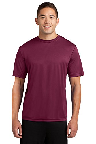 Dri-Tek Mens Big & Tall Short Sleeve Moisture Wicking Athletic T-Shirt, 4XLT, Cardinal